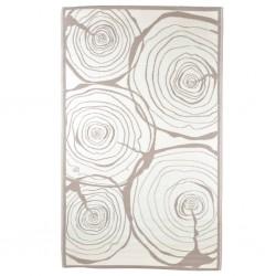 Esschert Design Dywan zewnętrzny, 240x150 cm, wzór z przekrojem drzewa