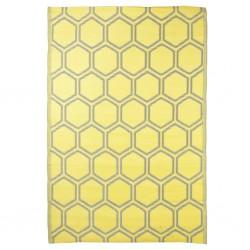 Esschert Design Dywanik zewnętrzny, 182x122 cm, wzór plastra miodu