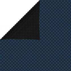 stradeXL Pływająca folia solarna z PE, 600x400 cm, czarno-niebieska