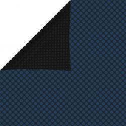 stradeXL Pływająca folia solarna z PE, 1000x500 cm, czarno-niebieska