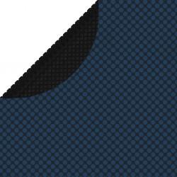 stradeXL Pływająca folia solarna z PE na basen, 381 cm, czarno-niebieska