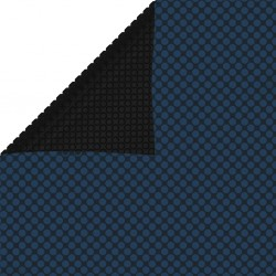 stradeXL Floating PE Solar Pool Film 800x500 cm Black and Blue