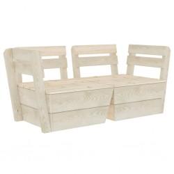 stradeXL Ogrodowa sofa 2-osobowa z palet, impregnowane drewno świerkowe