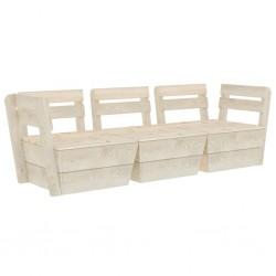 stradeXL Ogrodowa sofa 3-osobowa z palet, impregnowane drewno świerkowe