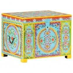 stradeXL Hand Painted Storage Box 50x40x40 cm Solid Mango Wood