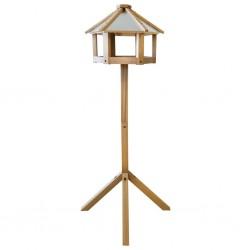 Esschert Design Karmnik dla ptaków, dębowy, sześciokątny