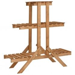 stradeXL Stojak na kwiaty, 83x25x83 cm, drewno jodłowe