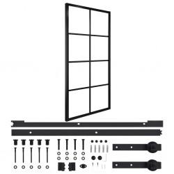 stradeXL Drzwi przesuwne, aluminium i szkło ESG, osprzęt, 102,5x205 cm