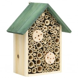 stradeXL Insect Hotels 2 pcs 23x14x29 cm Solid Firwood