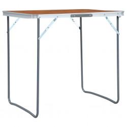 stradeXL Składany stolik turystyczny, aluminiowy, 60 x 45 cm