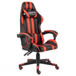 stradeXL Fotel dla gracza, czarno-czerwony, sztuczna skóra