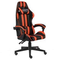 stradeXL Fotel dla gracza, czarno-pomarańczowy, sztuczna skóra