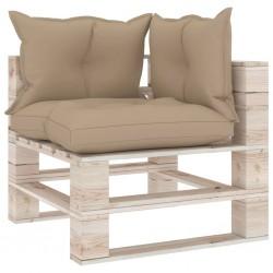 stradeXL Sofa narożna z palet, z poduszkami, drewno sosnowe