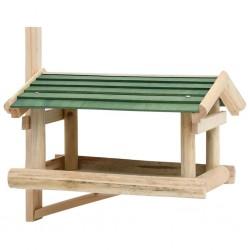 stradeXL Karmnik dla ptaków, lite drewno, 35 x 29,5 x 21 cm