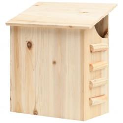 stradeXL Domek dla nietoperzy, lite drewno jodłowe, 30x20x38 cm