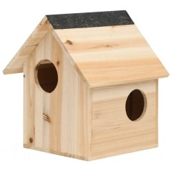 stradeXL Domek dla wiewiórki, lite drewno jodłowe, 26x25x29 cm