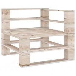 stradeXL Ogrodowa sofa narożna z palet, impregnowane drewno sosnowe