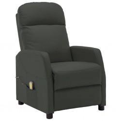 stradeXL Rozkładany fotel masujący, antracytowy, sztuczna skóra