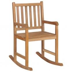 stradeXL Fotel bujany, lite drewno tekowe