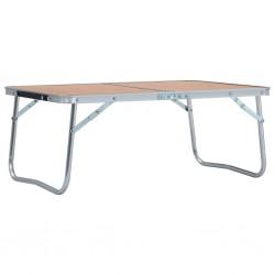 stradeXL Składany stolik turystyczny, brązowy, aluminiowy, 60x40 cm