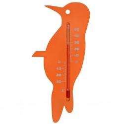 Nature Zewnętrzny termometr ogrodowy, w kształcie zięby, pomarańczowy