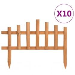 stradeXL Obrzeża trawnikowe, 10 szt., drewno jodłowe, 4,4 m