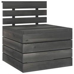stradeXL Ogrodowa sofa środkowa z palet, lite drewno sosnowe ciemnoszara