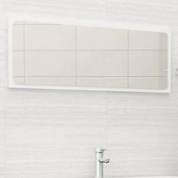 stradeXL Lustro łazienkowe, białe, 100x1,5x37 cm, płyta wiórowa