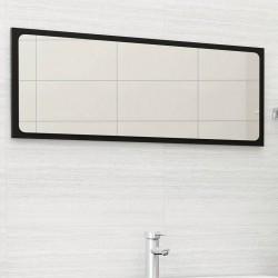 stradeXL Lustro łazienkowe, czarne, 100x1,5x37 cm, płyta wiórowa
