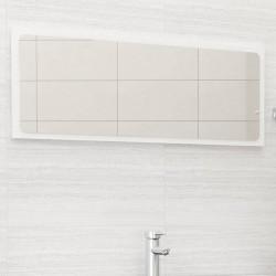 stradeXL Lustro łazienkowe, wysoki połysk, białe, 100x1,5x37 cm, płyta
