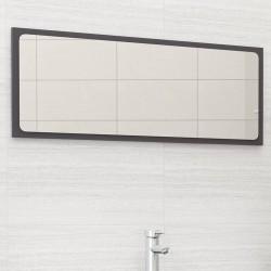 stradeXL Lustro łazienkowe, wysoki połysk, szare, 100x1,5x37 cm, płyta