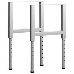 stradeXL Regulowane ramy stołu roboczego, 2 szt., metal, 55x(69-95,5) cm