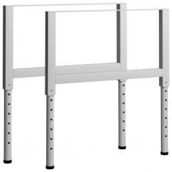 stradeXL Regulowane ramy stołu roboczego, 2 szt., metal, 85x(69-95,5) cm