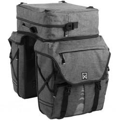 Willex Sakwy rowerowe z odpinaną górną torbą XL 1200, antracyt, 65 l