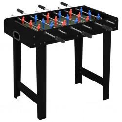 stradeXL Mini stół do gry w piłkarzyki, 69 x 37 x 62 cm, czarny