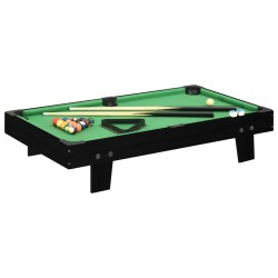 stradeXL Mini stół bilardowy na 3 nogach, 92x52x19 cm, czarno-zielony