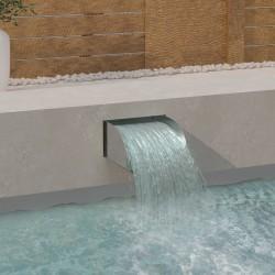 stradeXL Waterfall 30x34x14 cm Stainless Steel 304