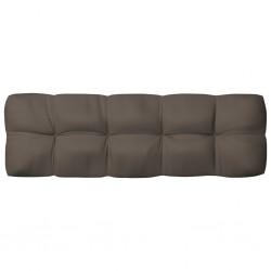 stradeXL Poduszka na sofę ogrodową, kolor taupe, 120x40x12 cm, tkanina
