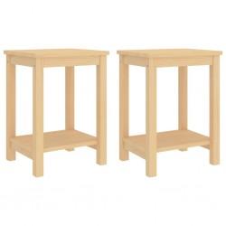 stradeXL Szafki nocne, 2 szt., jasne drewno sosnowe, 35x30x47 cm