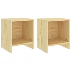 stradeXL Szafki nocne, 2 szt., jasne drewno sosnowe, 35x30x40 cm
