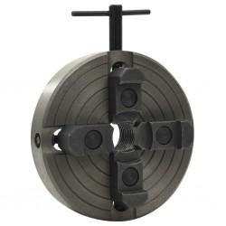 stradeXL Uchwyt tokarski, 4 szczęki, złącze M33, stal, czarny, 150x63 mm