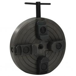 stradeXL Uchwyt tokarski, 4 szczęki, złącze M18, stal, czarny, 150x63 mm