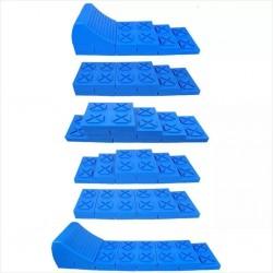 ProPlus Regulowane najazdy poziomujące do kampera, plastik, niebieskie