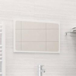 stradeXL Lustro łazienkowe, wysoki połysk, białe, 60x1,5x37 cm, płyta