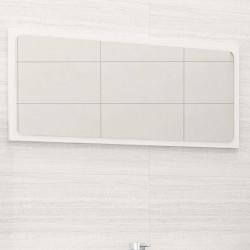 stradeXL Lustro łazienkowe, wysoki połysk, białe, 80x1,5x37 cm, płyta