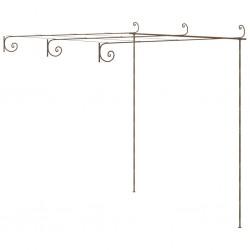 stradeXL Pergola ogrodowa, antyczny brąz, 3x3x2,5 m, żelazo
