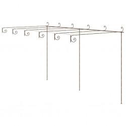 stradeXL Pergola ogrodowa, antyczny brąz, 6x3x2,5 m, żelazo
