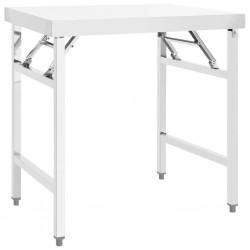 stradeXL Kuchenny, składany stół roboczy, 85x60x80 cm, stal nierdzewna