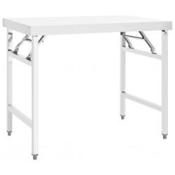 stradeXL Kuchenny, składany stół roboczy, 100x60x80 cm, stal nierdzewna