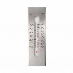 Nature Zewnętrzny termometr ścienny, aluminiowy, 7 x 1 x 23 cm